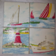 Ceramic Wall Tiles Made With Cath Kidston Boat in White